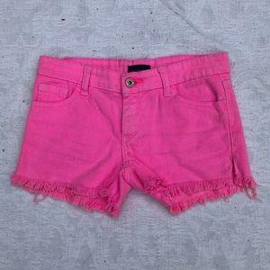 BUTTER by Super Soft Hot Pink Denim Shorts